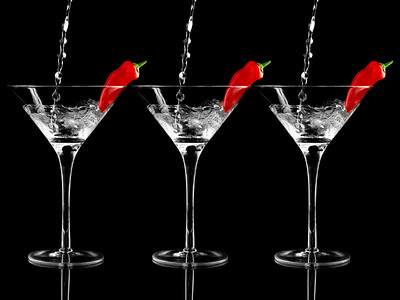 Red Pepper Martini Triple