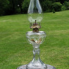 EYEBROW Stand Lamp<br /> This lamp was most likely manufactured by the co-operative Flint Glass Company. <br /> (Circa 1880 - 1900)