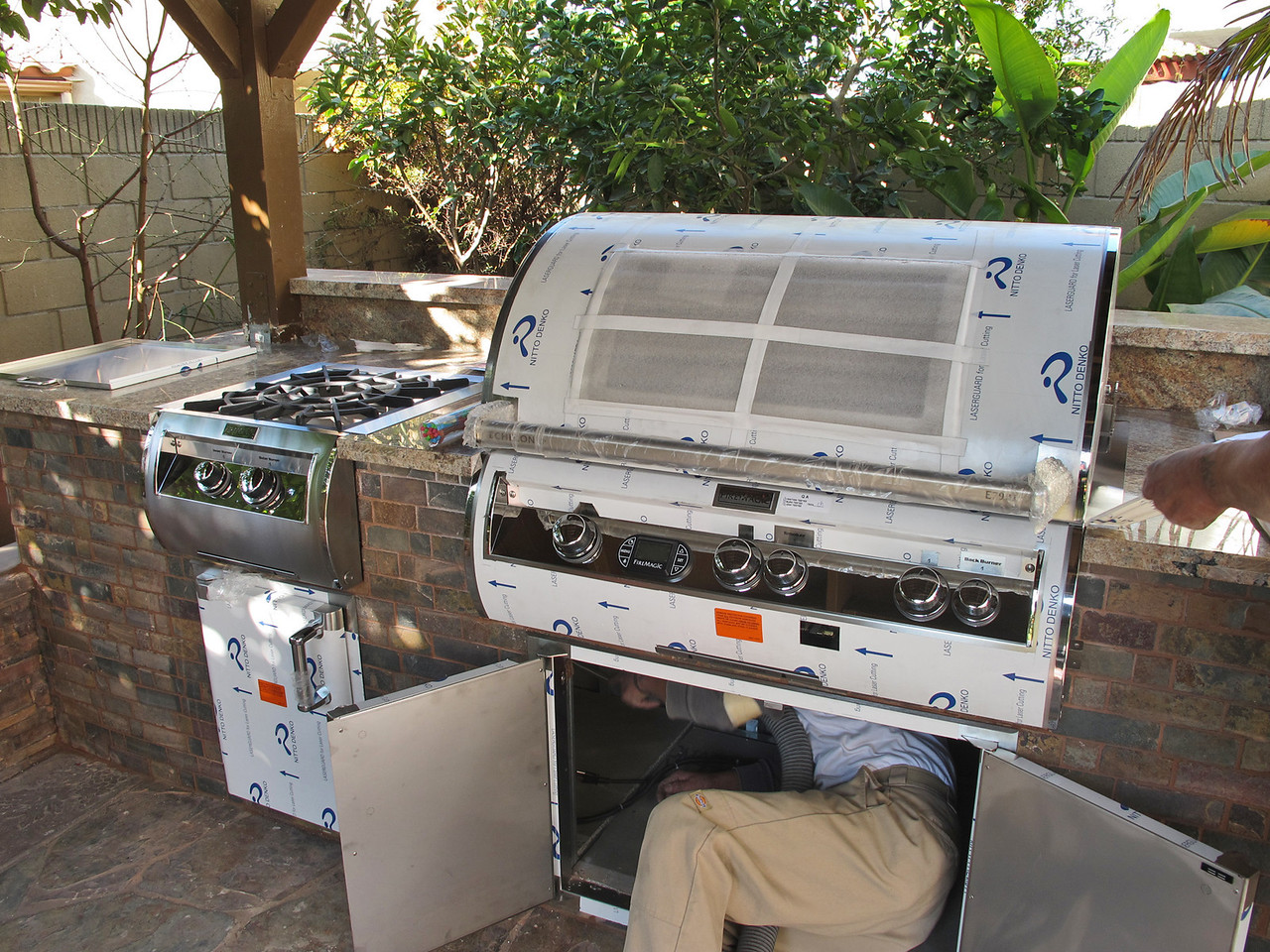 """The model for the BBQ grill is FireMagic E790I-4L1N-W (36"""" Echelon Diamond Built In Left Side Infa-Red With Magic View Window, And Rotisserie Natural Gas) -- <br /> <a href=""""http://www.bbqguys.com/item_name_Fire-Magic-Echelon-Diamond-E790-Natural-Gas-Built-in-Grill-With-One-Infrare_path__item_2791800.html"""">http://www.bbqguys.com/item_name_Fire-Magic-Echelon-Diamond-E790-Natural-Gas-Built-in-Grill-With-One-Infrare_path__item_2791800.html</a><br /> <br /> The power burner is FireMagic 19-4B2N-0 (Diamond Echelon Built-in Power Burner w/ Cast Brass Burner) -- <br /> <a href=""""http://www.bbqguys.com/item_name_Fire-Magic-Echelon-Diamond-Natural-Gas-Built-In-Power-Burner-With-Porcelain_path__item_2791922.html"""">http://www.bbqguys.com/item_name_Fire-Magic-Echelon-Diamond-Natural-Gas-Built-In-Power-Burner-With-Porcelain_path__item_2791922.html</a><br /> <br /> Echelon Double Access Doors - 43930S    by  FireMagic -- <br /> <a href=""""http://www.bbqguys.com/item_item_2125474.html"""">http://www.bbqguys.com/item_item_2125474.html</a><br /> <br /> Echelon Single   Access Doors - 43920-SL by  FireMagic -- <br /> <a href=""""http://www.bbqguys.com/item_name_Fire-Magic-Echelon-20x14-Left-Hinged-Stainless-Single-Access-Door_path__item_2125472.html"""">http://www.bbqguys.com/item_name_Fire-Magic-Echelon-20x14-Left-Hinged-Stainless-Single-Access-Door_path__item_2125472.html</a>"""