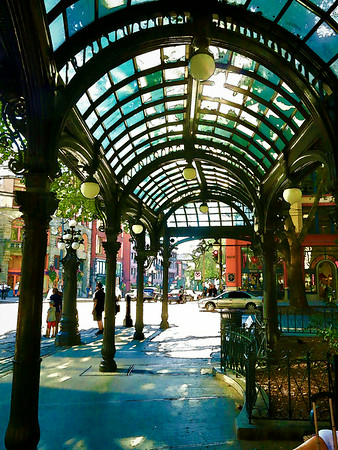 An Impressionist's View of Seattle's Pioneer Square - Skid Row