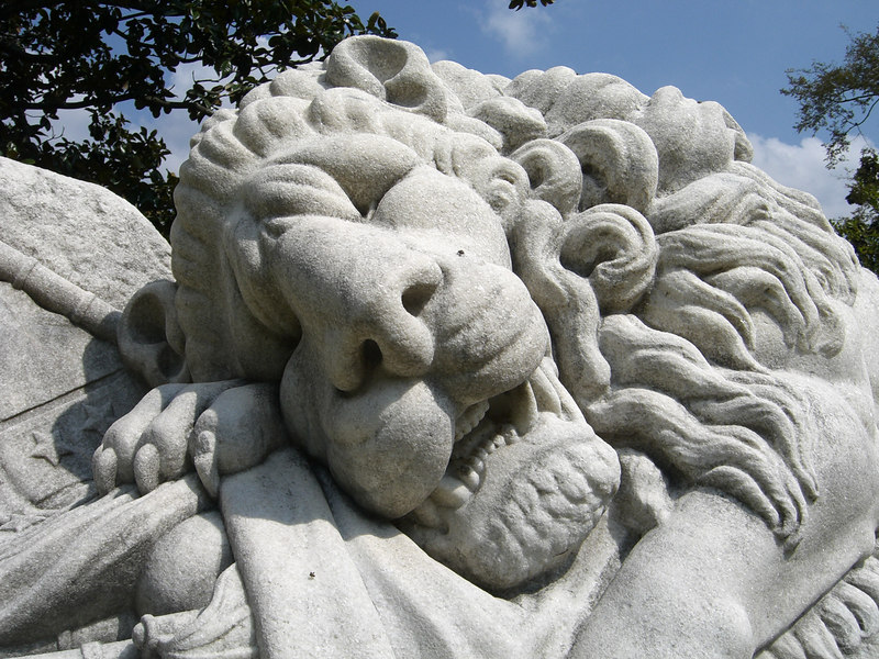 Oakland Cemetery, Atlanta - September 8, 2006  The Confederate Lion - Just a beautiful site