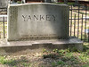 Oakland Cemetery, Atlanta - September 8, 2006  A Yankee in the south, this is one of the few in Oakland that have fences around it.