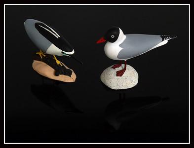 Coppia di uccelli marini in ceramica - Francia