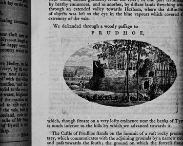 W. Hutchinson, A View of Northumberland, with an Excursion the the Abbey of Mailross in Scotland, Two Volumes, Charnley, Vesey and Whitfield, Newcastle 1778. Ex Libris Michael Shanks.