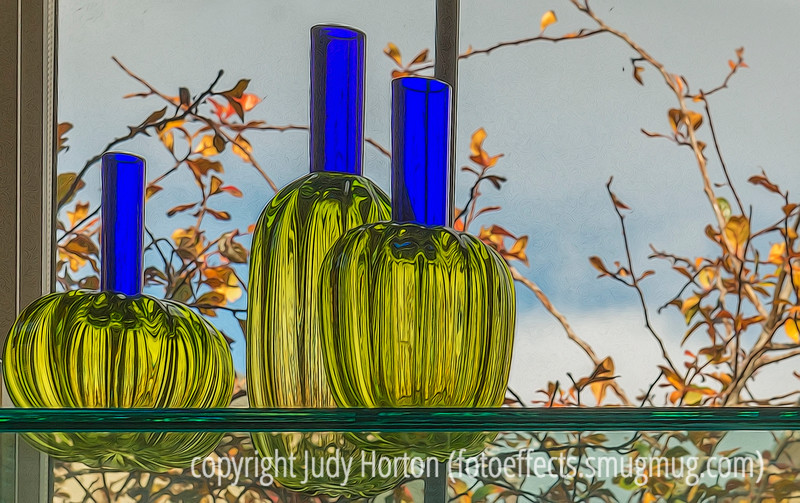 Art Glass in the Window