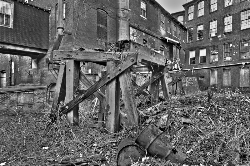 D is for dilapidated, dangerous, dingy, decadent, destitute in B&W