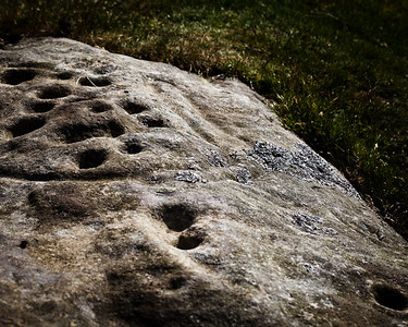 Prehistoric rock carving, Lordenshaws, Rothbury, Northumberland UK