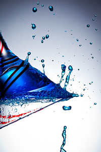 Splashy Blue Drops