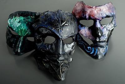 Masker tillverkade av Ludvig Mörck