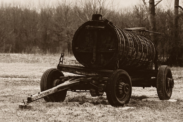 Oil barrel - This was used to transport oil from the field 100 years ago! Cheers JY