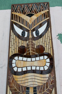 "Mosaic Tiki,  Designed and created by Dana Strahl, auctioned to help fund ""Natural High"":  naturalhigh.org"