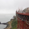 Golden Gate Bridge, north end, Sausalito, California