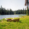 Rowboat<br /> Cranbaugh Lake, Lassen National Park<br /> (Pentax K1000 Kodachrome print)