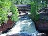Lower Falls and Horton Bridge at Amnicon Falls State Park, WI.
