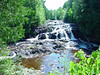 Lower portion of Copper Falls in Copper Falls State Park, WI.