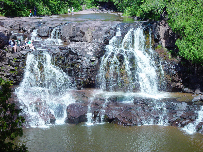 Upper Falls in Gooseberry Falls State Park, MN.