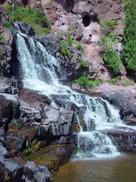 Middle Falls at Gooseberry Falls State Park, MN.