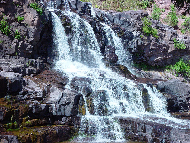 Middle Falls in Gooseberry Falls State Park, MN.