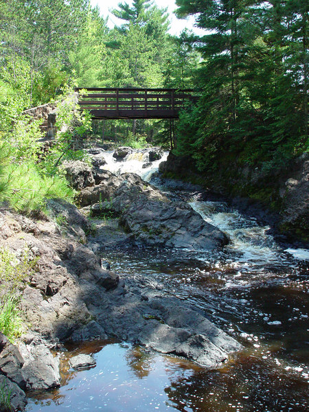 """The """"Now and Then Falls"""" in Amnicon Falls State Park."""