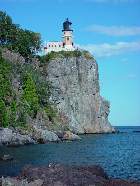 A little further down the rocks at Split Rock Lighthouse, MN.