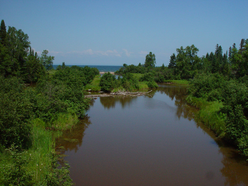 An alcove of water leading off of Lake Superior, along Hwy 13, west of Corny. (One of my Mom's favorite photos)