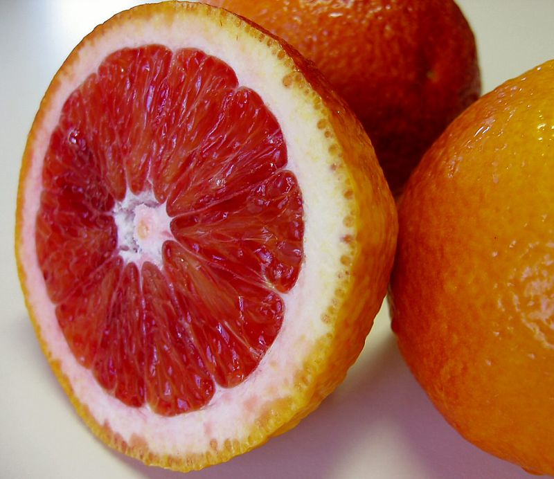 00aFavorite Blood Orange - half and two closely cropped cl