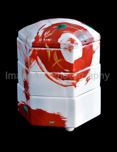 Japanese porcelain stacking box