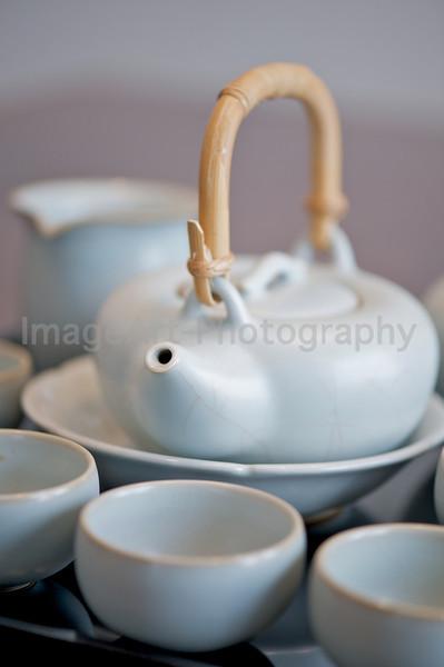 Chinese crackle glazed celadon tea service