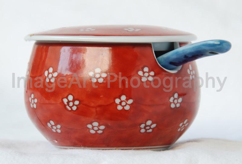 Japanese Arita Porcelain Mustard Pot