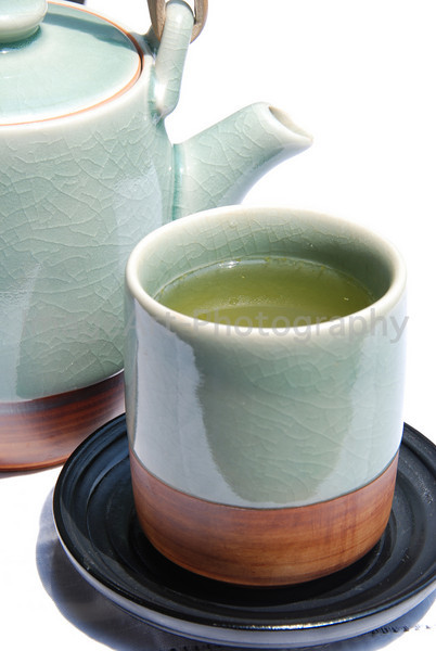 Green Tea in Celadon Cup