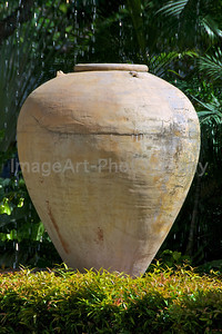 Pottery Urn in a Thai Garden