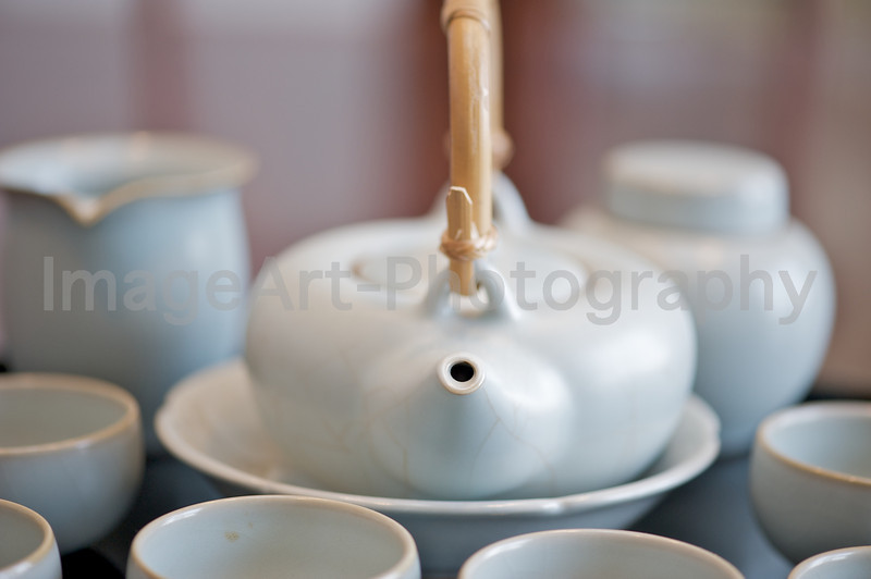Chinese crackle glazed celadon tea service