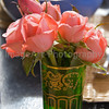Moroccan Mint Tea Glass with Roses