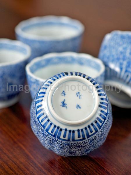 Japanese Imari porcelain cups