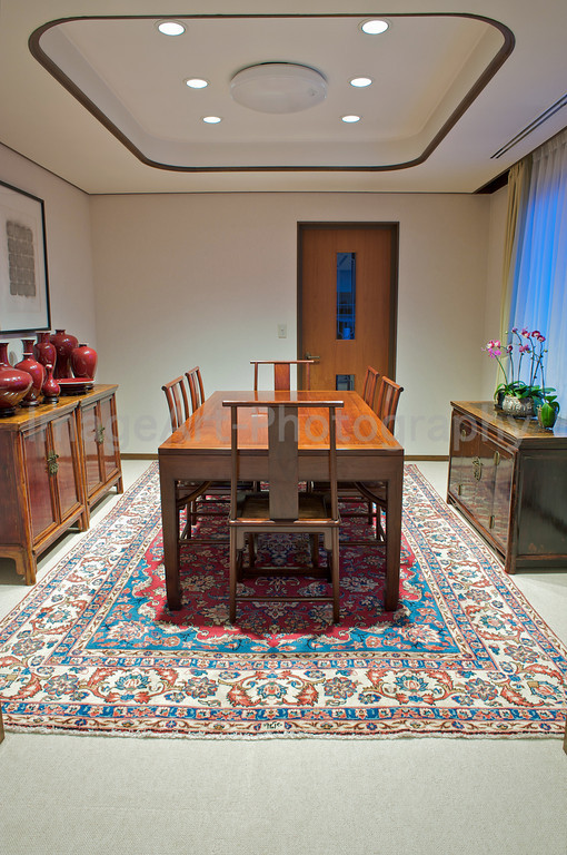 Chinese influenced dining room