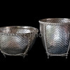 Woven silver bowls from Chiang Mai, Thailand