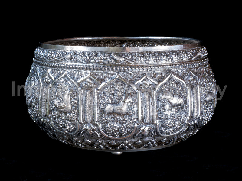 Silver bowl from Chiang Mai, Thailand
