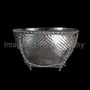 Woven silver bowl from Chiang Mai, Thailand