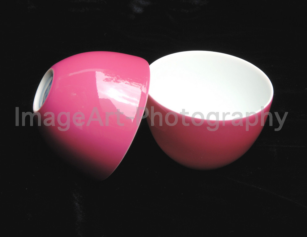 Rose coloured Porcelain Tea Cups from Taiwan