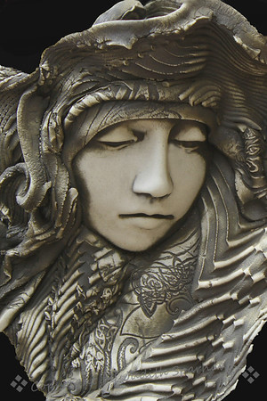 Face of Clay 2 ~  I ran across these beautiful sculptural pieces, all depicting women. I loved the emotional expressions shown. These are close-ups of the artwork in clay. In my opinion, the artist is truly gifted, and I was so glad to find these great women.