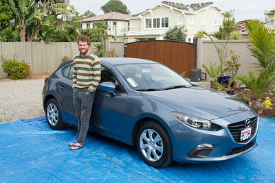 Perry's first new car, Mazda 3 Hatchback 5/25/2015