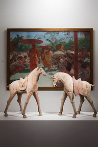 Antique terracotta horses