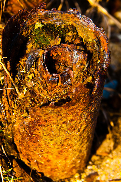 Rust Pipe Stump