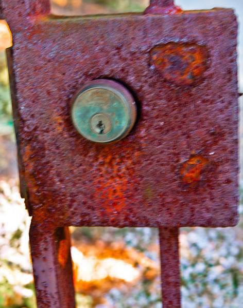 Old gate lock