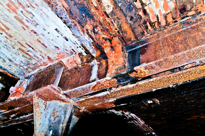 Rusty Roof beam support.