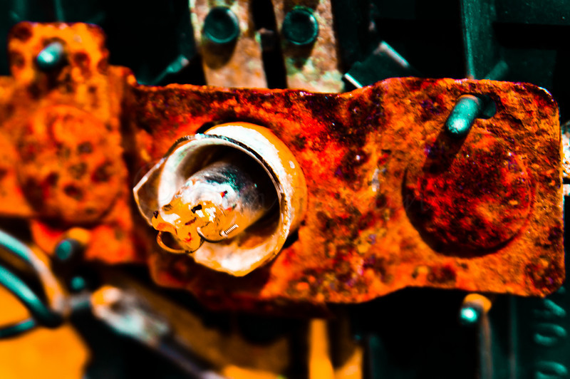 Rust on a road sander