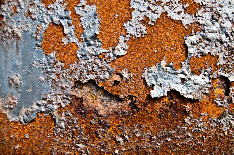 Flakey paint on rust!