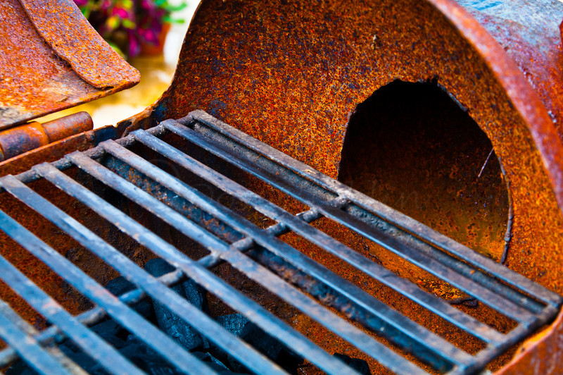 Grill in a Pig Sculpture, detail