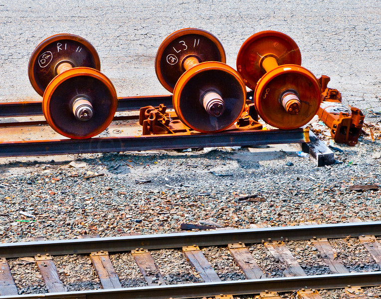 Carless rail wheels