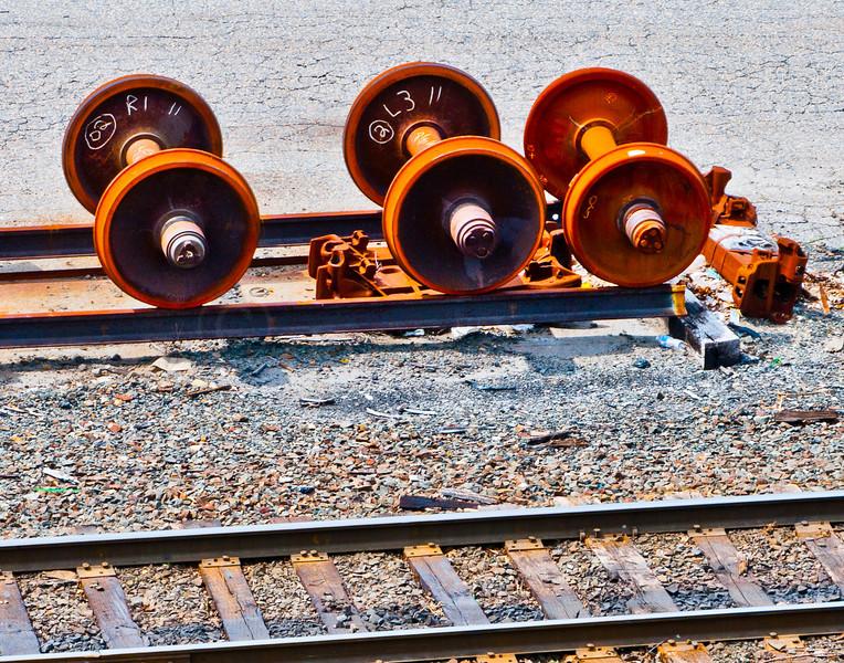 Carless rail wheels